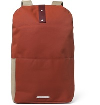Brooks England Dalston Leather Trimmed Canvas Backpack Orange