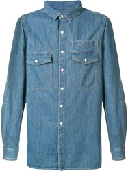 Stampd Classic Denim Shirt Blue
