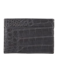 Walter Steiger Crocodile Card Holder Gray