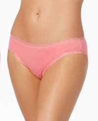 Charter Club Modern Essentials Lace Trim Bikini Only At Macy's Pink Feather