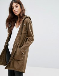 New Look Lightweight Festival Parka Khaki Green