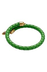 Women's Alex And Ani 'Sun Blaze' Braided Leather Wrap Bracelet Palm Green