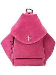 Manu Atelier Mini Fernweh Convertible Backpack Pink And Purple