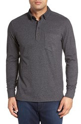 Nordstrom Men's Men's Shop Brushed Jersey Polo Grey Driftwood Heather