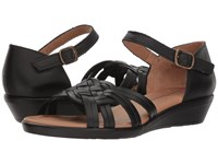 Comfortiva Fortune Black Wedge Shoes