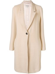 Forte Forte Single Breasted Coat Nude And Neutrals
