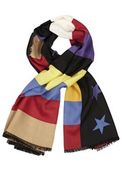 Givenchy American Flag Print Wool Blend Scarf Multicoloured