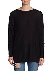 Sweet Romeo Oversized Cotton Pullover Black