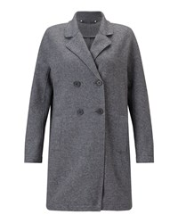 Jigsaw Raw Edge Jersey Coat Grey Marl