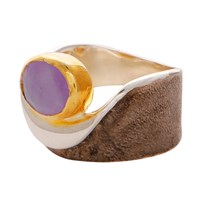 Carousel Jewels Amethyst Gold And Silver Pocket Ring Pink Purple