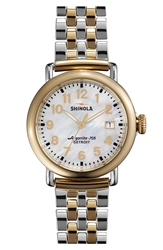 Shinola 'The Runwell' Bracelet Watch 36Mm Gold Silver
