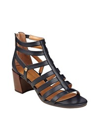 Tommy Hilfiger Cathy Faux Leather Strappy Sandals Black