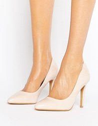 Head Over Heels By Dune Alice Nude Patent Heeled Court Shoes Nude Beige