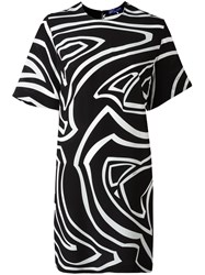 Emilio Pucci Printed Short Sleeve Dress Black