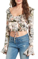 For Love And Lemons Women's Lovers Friends Luciana Ruffle Blouse