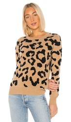 Madeleine Thompson Grumpy Pullover In Brown. Camel And Black