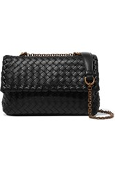 Bottega Veneta Baby Olimpia Small Intrecciato Leather Shoulder Bag Black