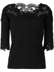Ermanno Scervino Lace Inserts T Shirt Black