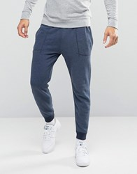 Abercrombie And Fitch Cuffed Joggers Moose Logo Embroidery In Navy Navy