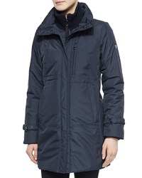 Post Card Ametista City Placket Front Coat Navy 215