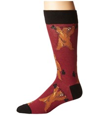 Socksmith Bearbell Wine Crew Cut Socks Shoes Burgundy