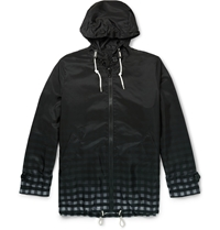 Band Of Outsiders Mackintosh Degrade Check Hooded Jacket Black