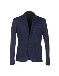 Grey Daniele Alessandrini Suits And Jackets Blazers Men Dark Blue