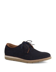 Johnston And Murphy Campton Perforated Oxfords Navy