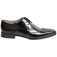 Oliver Sweeney London Buxhall Patent Brogue Derby Shoes Black