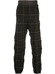 Undercover Check Pattern Track Pants Grey