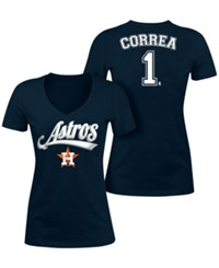 5Th And Ocean Women's Carlos Correa Houston Astros Foil Player T Shirt Navy