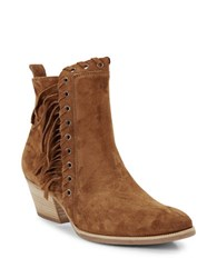 Paul Green West Suede Ankle Boots Cognac