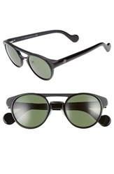 Moncler Women's 50Mm Keyhole Sunglasses Shiny Black Green Shiny Black Green
