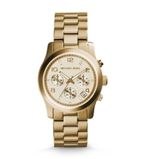 Michael Kors Runway Gold Tone Chronograph Watch