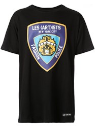 Les Artists Art Ists Fashion Police T Shirt Black
