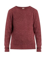 Massimo Alba Crew Neck Alpaca Blend Sweater Multi