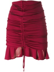 Iro Gathered Drawstring Mini Skirt