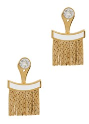Ca And Lou Karen Fringed 24Kt Gold Plated Earrings