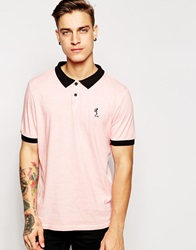 Religion Oil Wash Polo Shirt Palepink