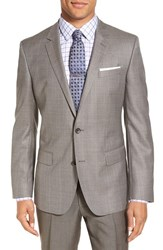 Boss Men's 'Hutch' Trim Fit Wool Blazer Light Beige