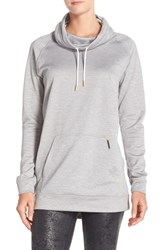 Women's New Balance 'Sunrise' Sweatshirt Light Grey Heather