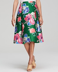 Kate Spade New York Lorella Floral Print Midi Skirt Lucky Green
