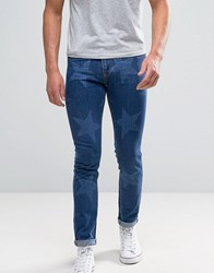 Brooklyn Supply Co. Co Cropped Jeans With Star Print Bl1 Blue 1