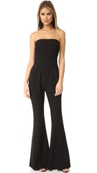Black Halo Miller Strapless Jumpsuit Black