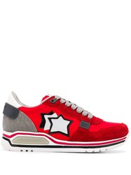 Atlantic Stars Star Patch Sneakers Red