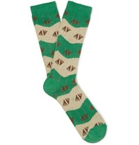 Anonymous Ism Cotton Blend Socks Green