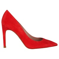 Whistles Cornel High Heeled Stiletto Court Shoes Red Suede