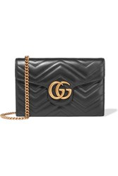 Gucci Gg Marmont Quilted Leather Shoulder Bag Black