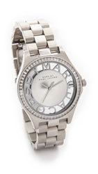 Marc By Marc Jacobs Henry Skeleton Glitz Watch Silver