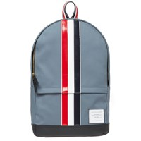 Thom Browne Leather Stripe Mackintosh Backpack Grey